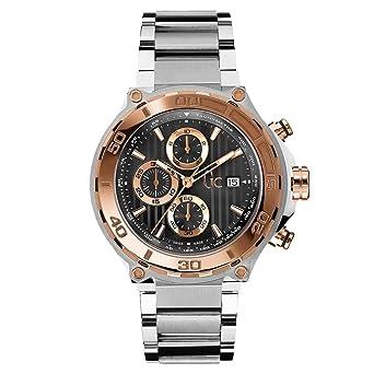 GUESS COLLECTION RELOJ DE HOMBRE CUARZO 44MM CORREA DE ACERO X56008G2S: Amazon.es: Relojes