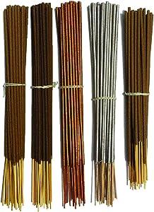 INA KI Hand Made Incense Sticks 5 Fragrance 100% Natural Long Lasting Home Fragrance (200 Gram Pack).for Meditation,Aromatherapy, Yoga