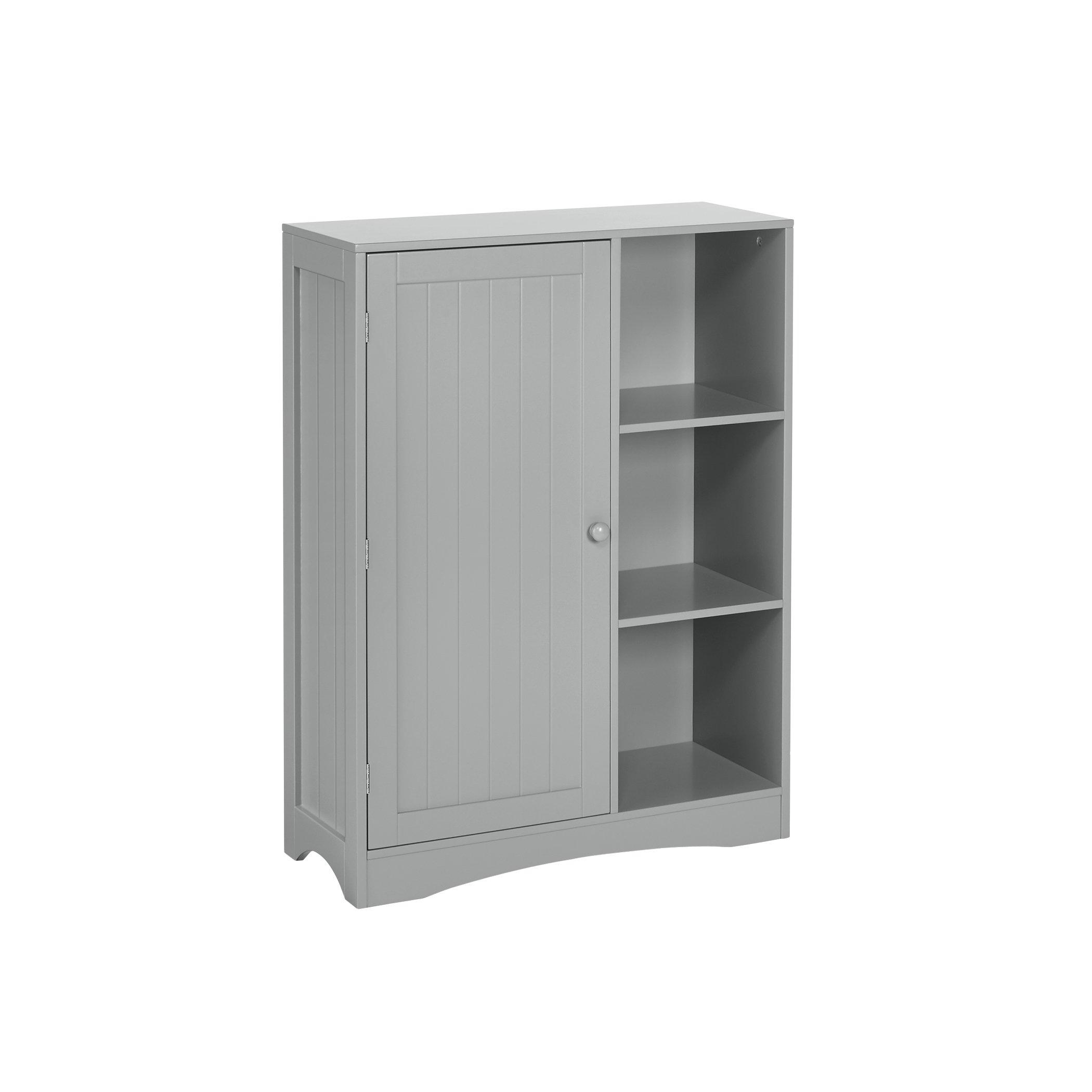 RiverRidge 02-143 Single Door, 3-Cubby Kids Floor Cabinet, Gray