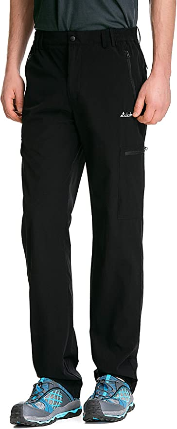 Clothin Mens Elastic-Waist Drawstring Pants for Sport Exercise Travel,Quick-Dry,Stretchy