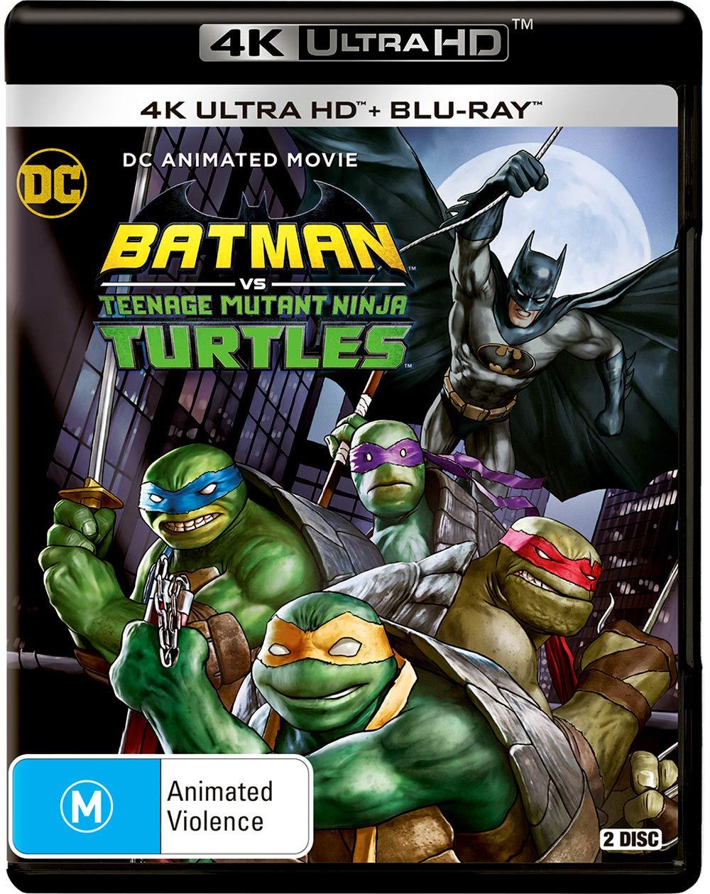 Amazon Com Batman Vs Teenage Mutant Ninja Turtles Dc Animated Movie Non Usa Format Region B Import Australia Movies Tv