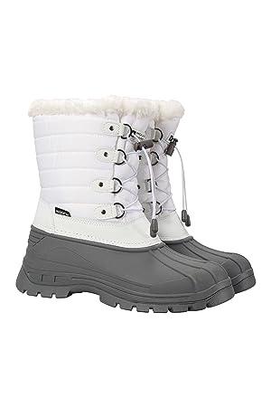 fa98201aa Mountain Warehouse Whistler Womens Snow Boot -Waterproof Winter Shoes White  6 M US Women