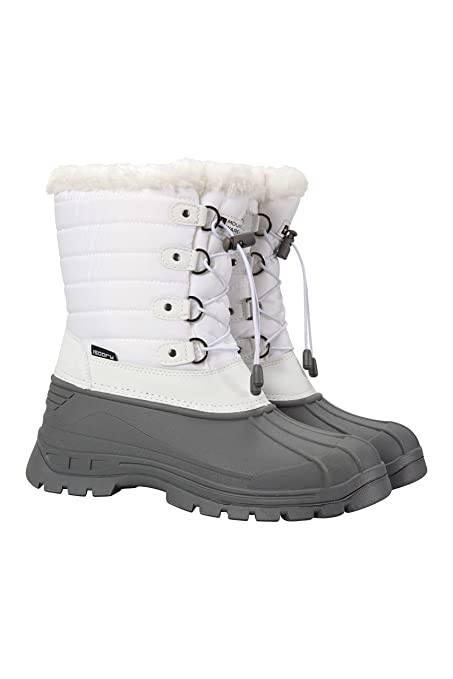 894c93f96 Mountain Warehouse Whistler Womens Snow Boots - Waterproof Ladies Winter  Shoes, Warm, Textile Upper, Reinforced Heel & Toe Bumpers - Ideal for  Skiing ...