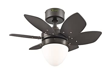 Westinghouse 7222900 Origami Single Light 24 Inch Reversible Six Blade  Indoor Ceiling Fan