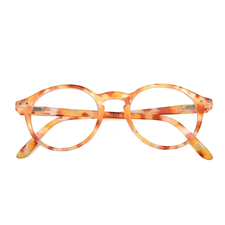 IZIPIZI LetmeSee #D Yellow Tortoise Reading Glasses