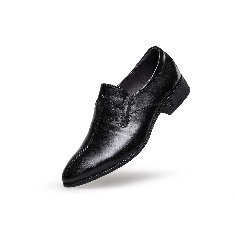 ZRO Men's F5228 Leather Oxfords Business Dress Shoes (8, black)