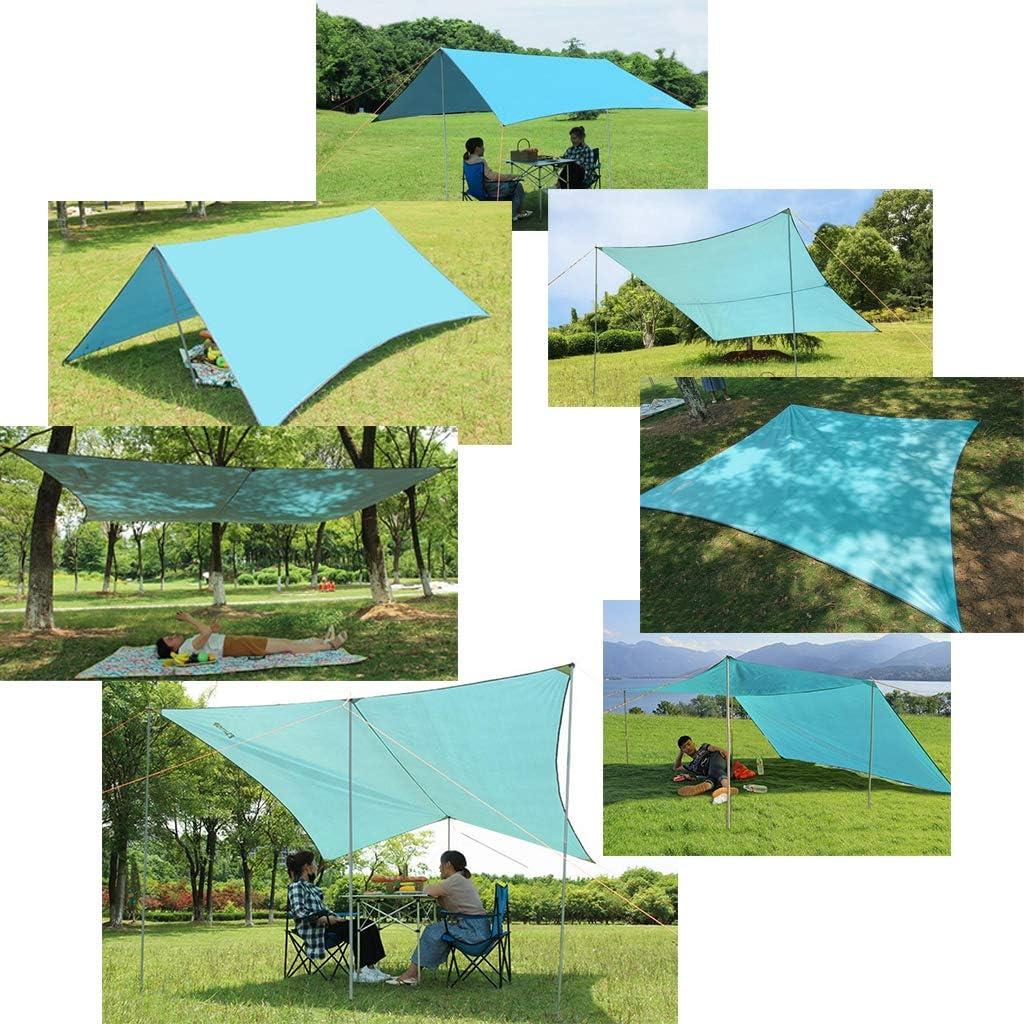 Se Prolongeant pour La B/âche De Tente De Campeur 28mm 5 Sections avec Le perfeclan Tentes T/élescopiques R/églables Ext/érieures De Polonais De Tente De B/âche