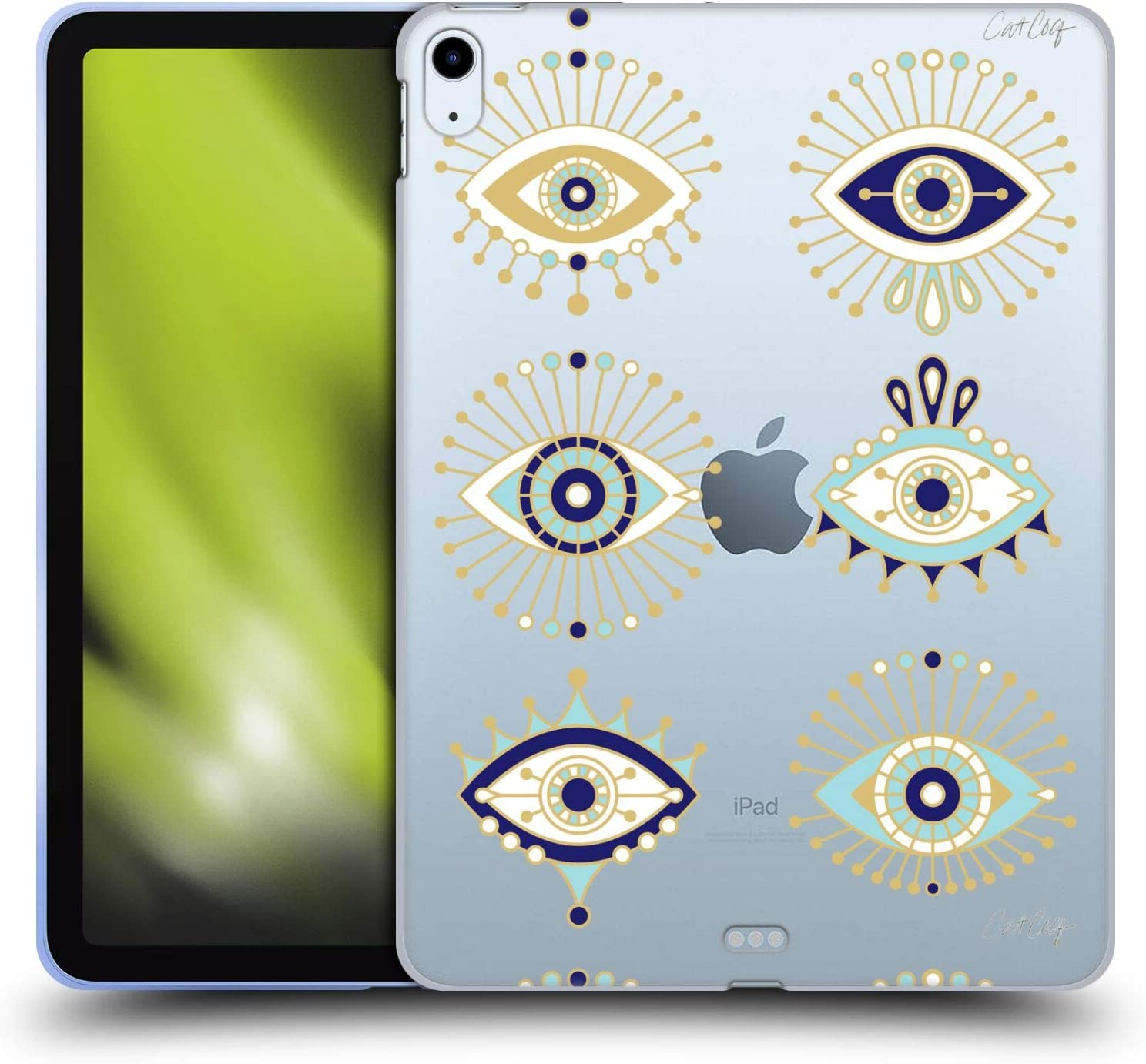 Head Case Designs Officially Licensed Cat Coquillette Blue Gold Evil Eye Soft Gel Case Compatible with Apple iPad Air (2020)