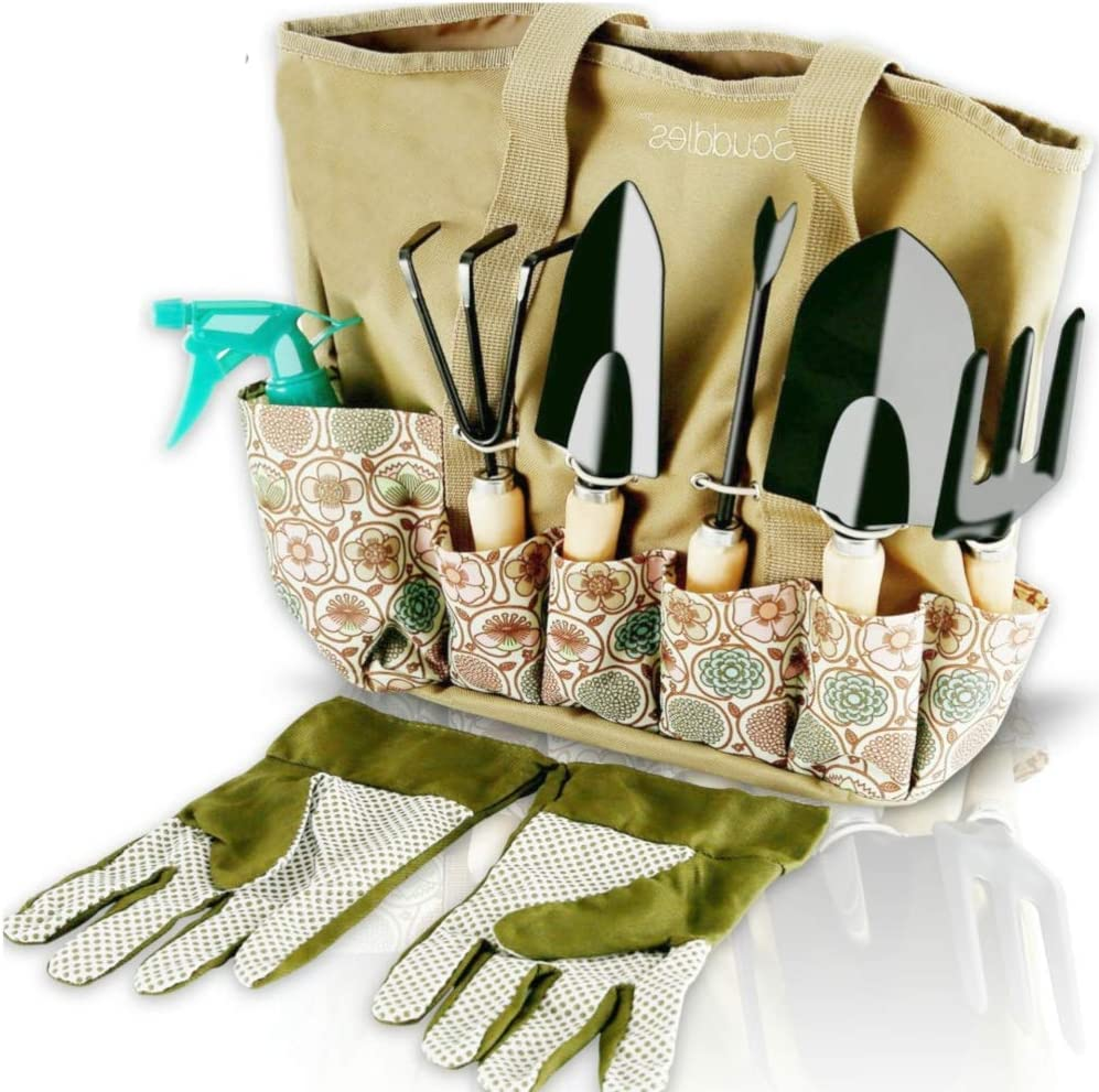 Scuddles garden tools - 8 Piece Garden Tools Set For Women Or Men Garden Tools Set Includes All Tools Needed For Your Lawn Or Gardening