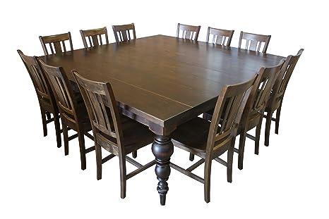 Amazon.com: Juego de mesa de comedor cuadrada con patas ...