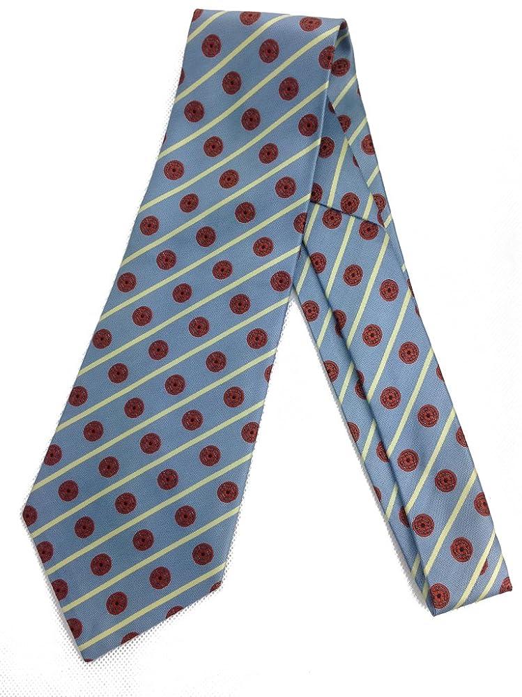 New 1930s Mens Fashion Ties Blue Stripe Spot Tie - Vintage Jacquard Weave - Wide Kipper Necktie- Medallion $23.95 AT vintagedancer.com