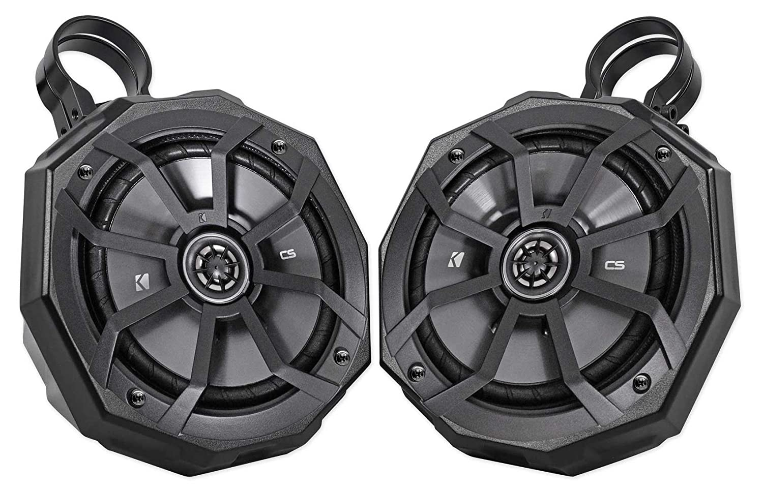 Pair Yamaha Wolverine 65 Perimeter Roll Cage Kicker Single Voice Coil Subwoofer Wiring Diagram Simple 300w Tower Speakers Automotive