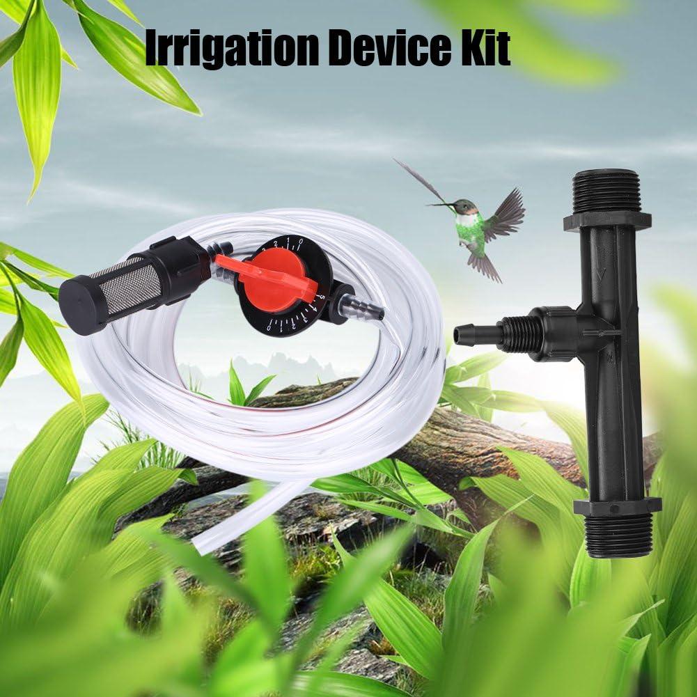 Kit Dispositivo di irrigazione per Giardino G3 // 4 Iniettore di Fertilizzante Filtro Interruttore Tubo dellAcqua Tonysa Tubo per irrigazione iniettore di Fertilizzante