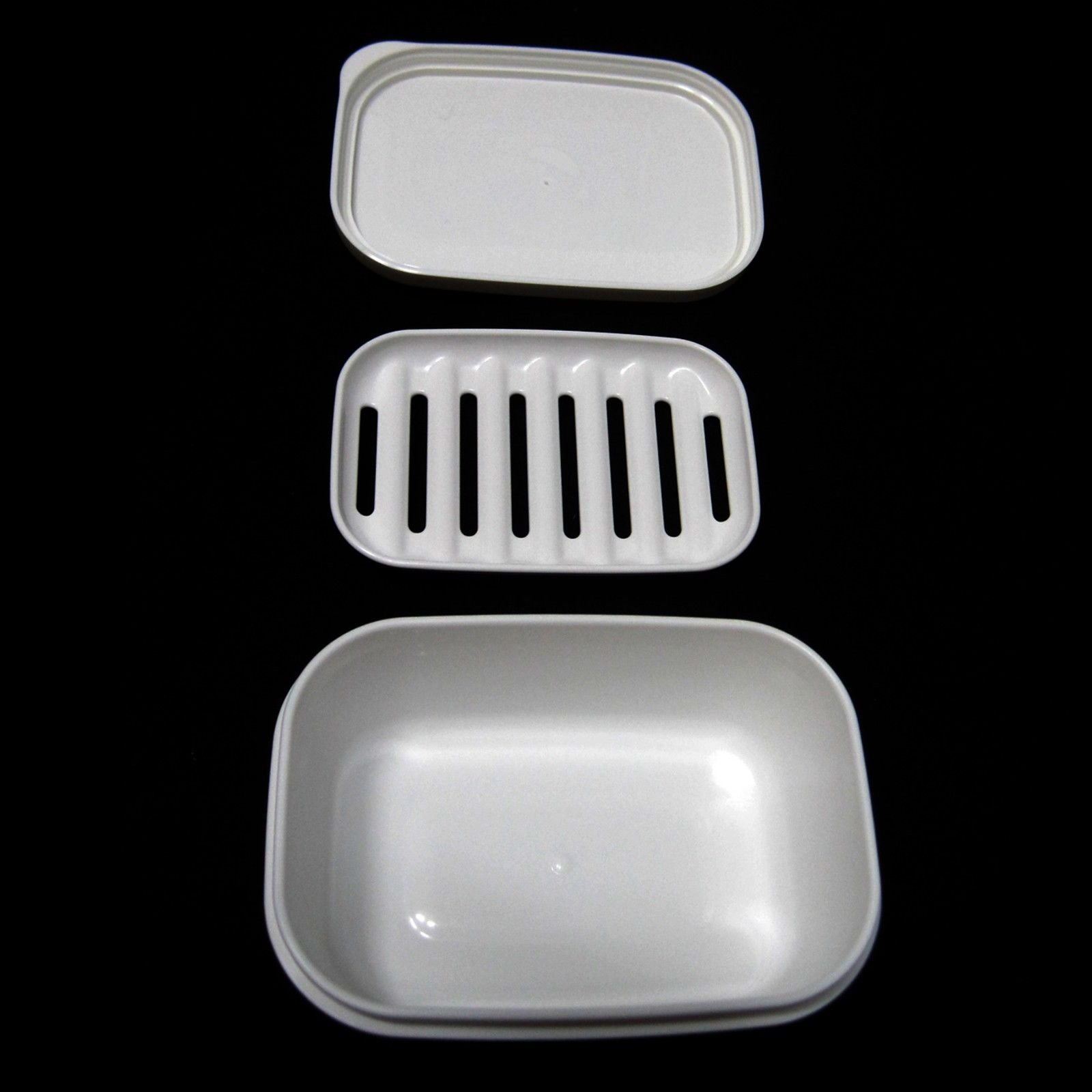 Portable Rectangular Soap Case Airtight Container Soap Tray Traveling Accessory
