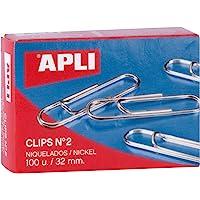 APLI 11711 - Clips niquelados nº2 32 mm