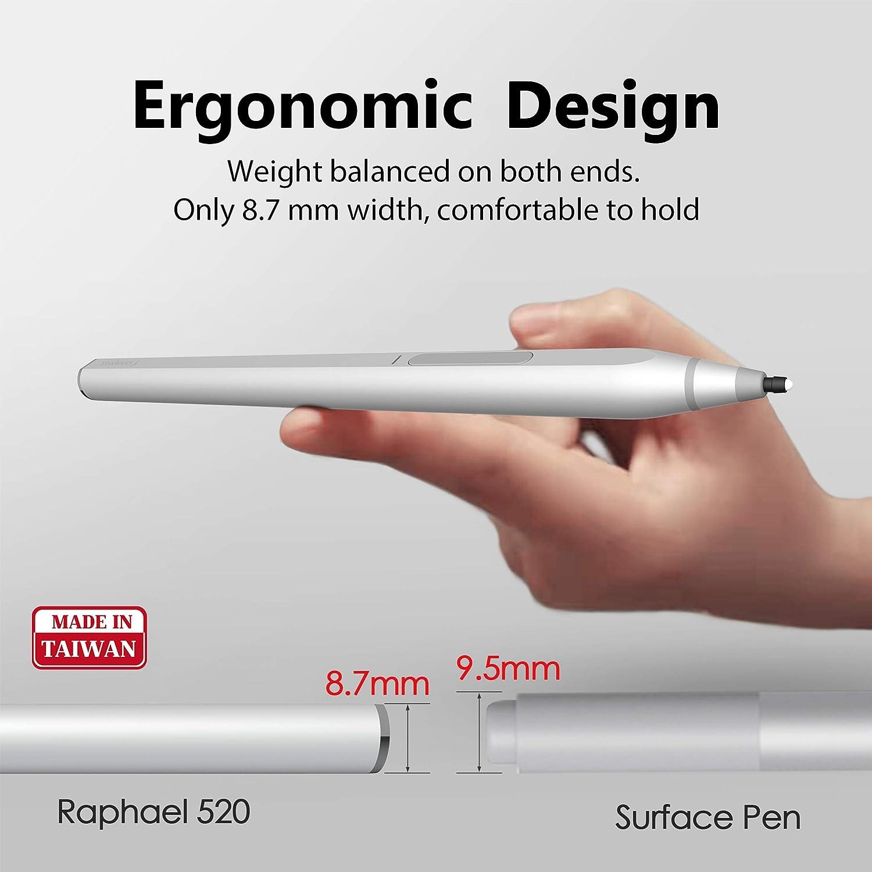 Cuerpo de Aluminio Carga R/ápida Recargable Raphael 520 Sensibilidad De Presi/ón M/áxima 4096 Primera Forma de D Igual Que El Surface Pen RENAISSER Surface Pen Conexi/ón Magn/ética