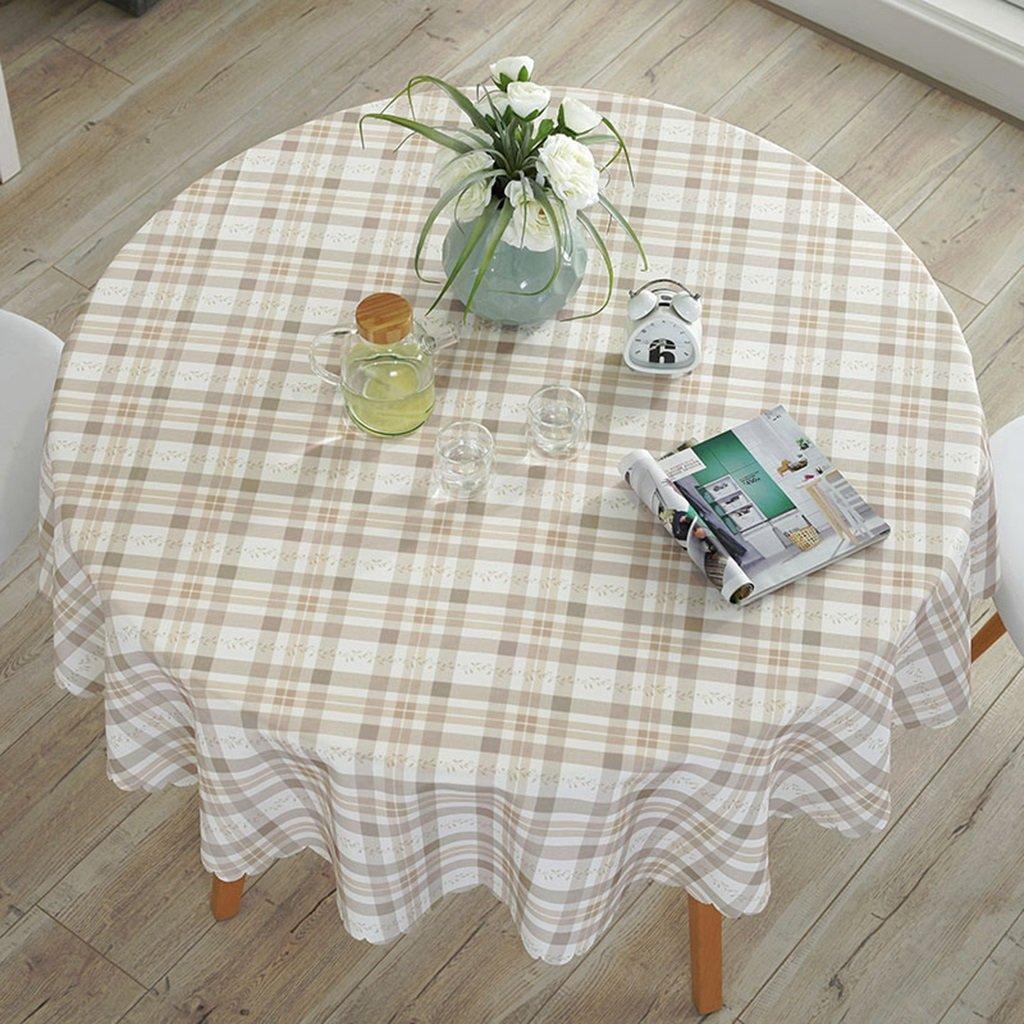 Unbekannt %Tablecloth Runde Tischdecke Baumwolle und Leinen wasserdicht Anti-heiß Anti-Öl-Runde Tisch Kaffee Tischdecke (Farbe   F, größe   Round-90cm) B07G55GKRV Tischdecken Haltbarkeit | Spielen Sie auf der ganzen Welt und verhinde