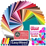 SISER EasyWeed Heat Transfer Shirt Vinyl EVERY Easyweed Color Bundle, 12 Inch x 15 Inch with Custom Siser Swatch Book by Swing Design