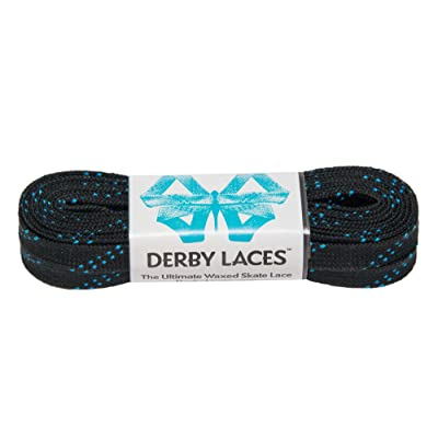 Derby Laces Black 96 Inch Waxed Skate Lace for Roller Derby, Hockey and Ice Skates, and Boots : Sports & Outdoors