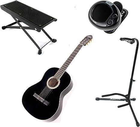 LaPaz 001 BK - Pack de guitarra clásica + accesorios: Amazon.es: Instrumentos musicales