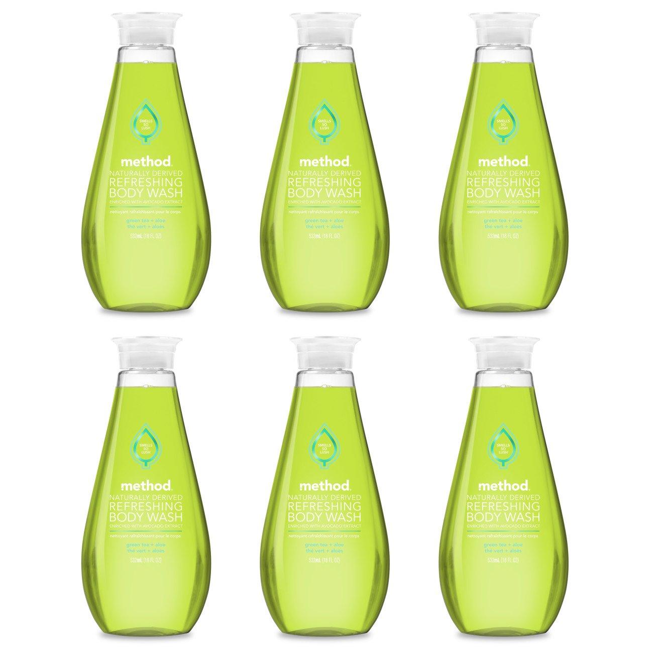 Method Refreshing Body Wash, Green Tea Aloe, 18 Ounce 6 Count