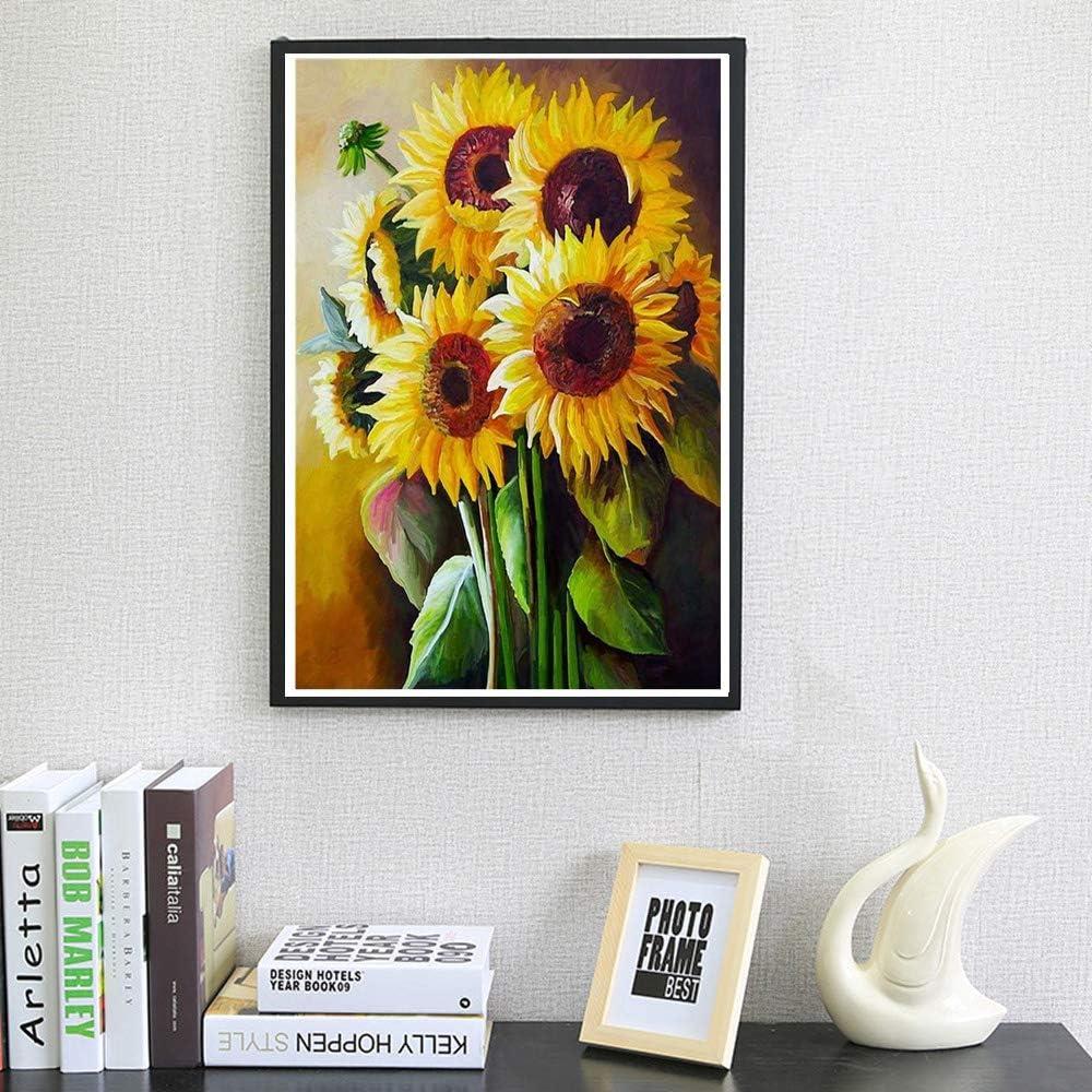 Izanus Sunflower Full Drill DIY 5D Diamond Painting Landscape Cross Stitch Kits Embroidery Home Decor Bedroom bar Parlour Decor