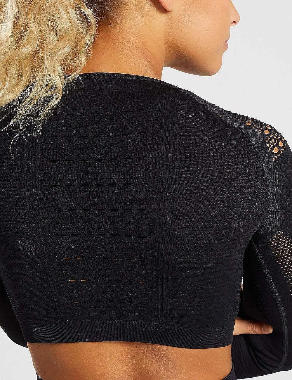 STARBILD Women Seamless Sport Long Sleeve Crop Tops Thumb Hole Fashion Tops Running Workout Gym Tee