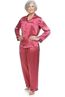 e385616e11 TexereSilk Women s 100% Silk Pajama Set - Luxury Sleepwear Pjs (Morning ...