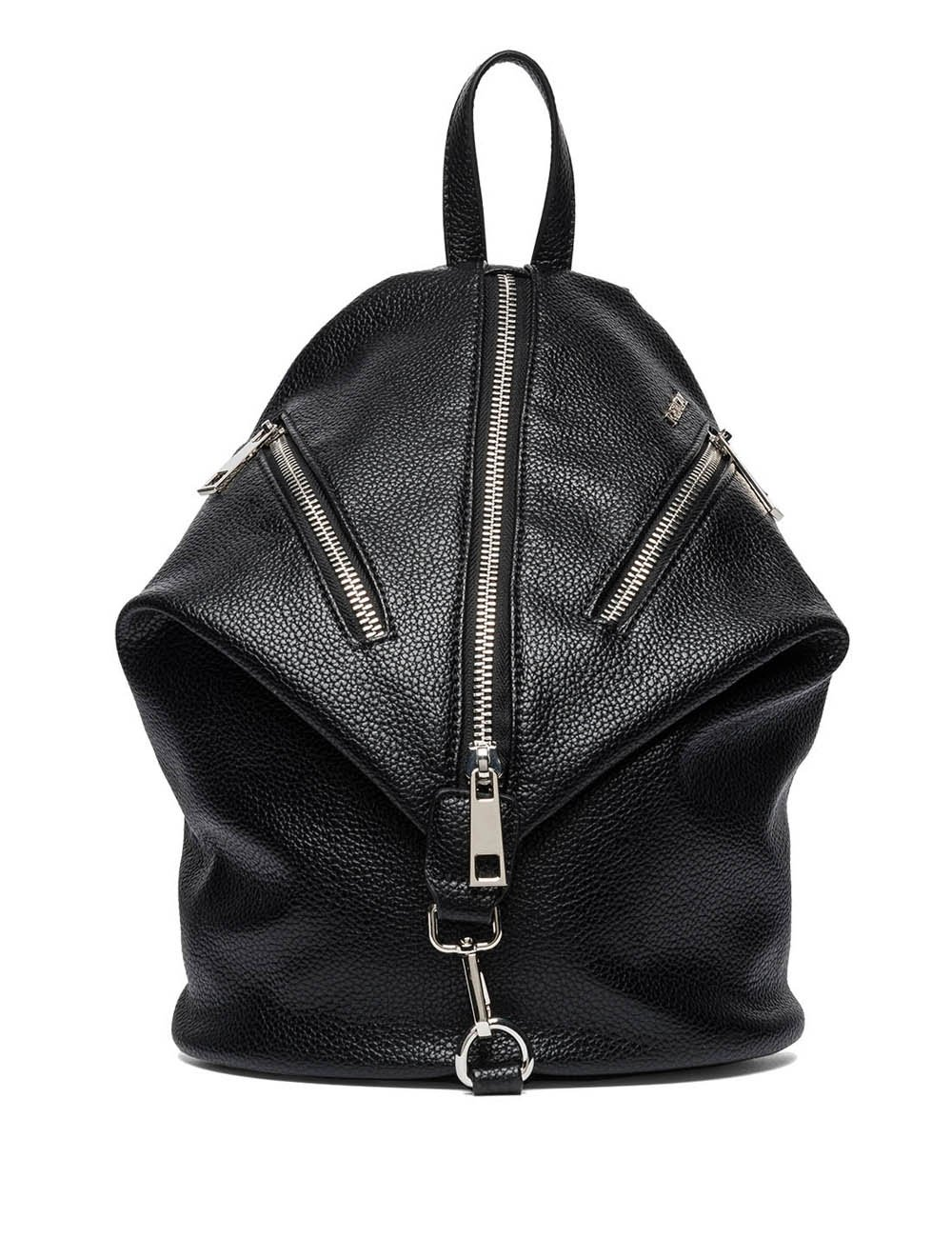 Replay Women's Women's Faux Leather Black Backpack Black