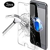 """iPhone 8 pellicola protettiva, iPhone 7 pellicola protettiva, Mture Vetro Temperato Premium 9H protezione dello schermo scratch Resistente HD Film Tempered Glass Screen Protector per iPhone 8 / iPhone 7 4.7"""" (2 pack)"""