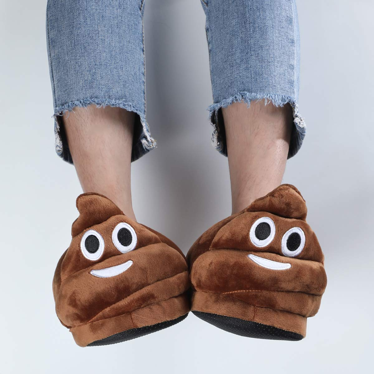 Warm and Comfortable Cute House Shoes for Indoor or Outdoor Unisex Emoticons Slippers Plush Fluffy Cotton Slippers
