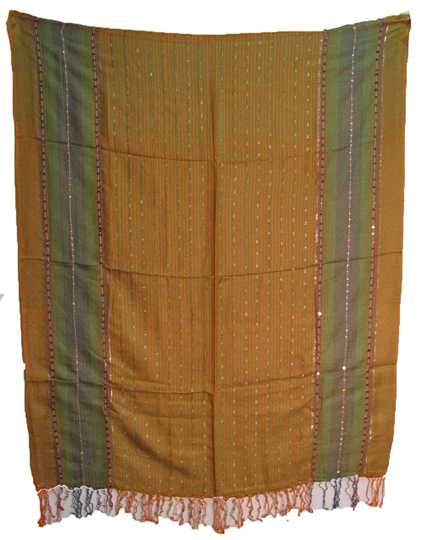 Earthtone Pashmina Cotton-Feel Fringe Scarf Wrap Shawl Stole Bandana Muffler