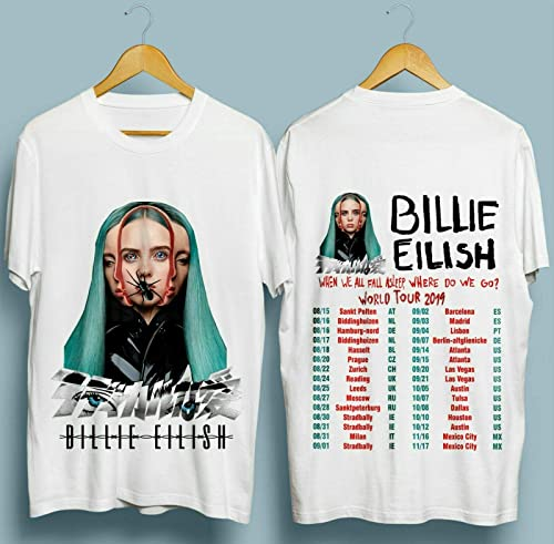 Billie Eilish T-shirt Where Do We Go World Tour 2020 Pop Music Tee