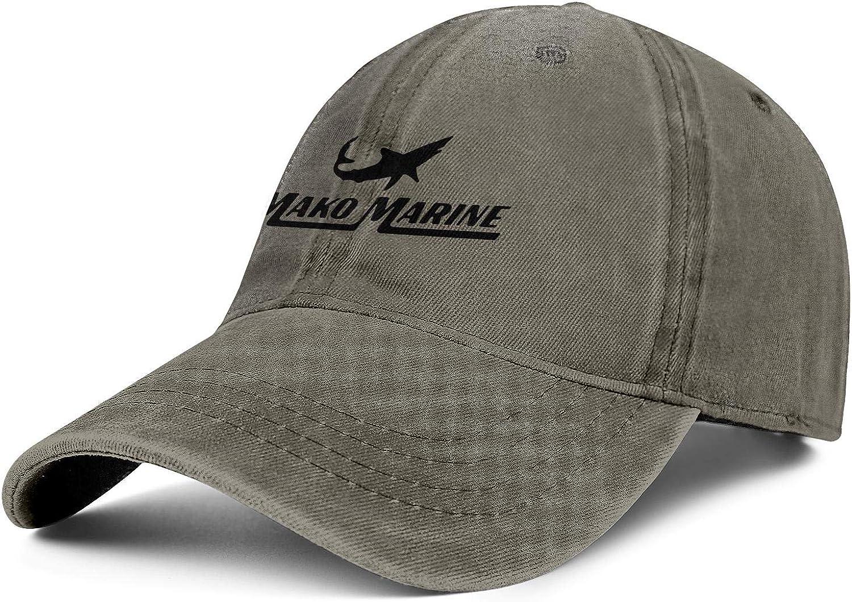 Unisex Men Baseball Cap Mako Marine International Logo Cool Washed Organic Cotton Denim Dad Hats