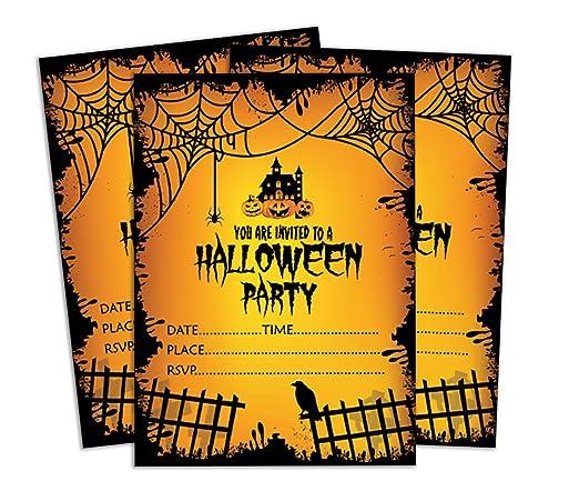 Darling Souvenir Invitación Amarilla de Halloween Tarjeta para ...
