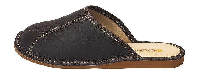 Hommes confort chaussons pantoufles Veritable Peau de vache naturel   Amazon.fr  Chaussures et Sacs 27b2c32e4d82