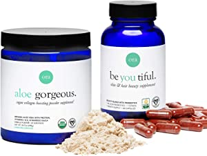 Ora Organic Collagen Boosting Powder & B Vitamins Capsules Bundle - Offers Key Vitamins, Pea Protein, Silica and More to Support Hair, Skin, and Nails