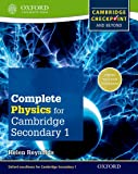Complete Physics for Cambridge Secondary 1 Student Book: Thorough Preparation for Cambridge Checkpoint - Rise to the Challenge of Cambridge IGCSE (Checkpoint Science)