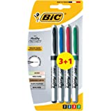 BIC Marking CD/DVD Marker Pens - Value Pack of 3, Plus 1 Free