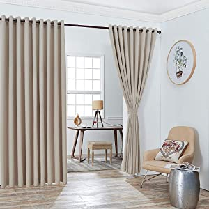 WARM HOME DESIGNS Extra Large 2 Ivory Wall to Wall Curtains 108