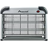 Aspectek - 20W Electronic Bug Zapper - Insect, Fly, Mosquito Killer and Zaps Other Insects Attracted by UV Light