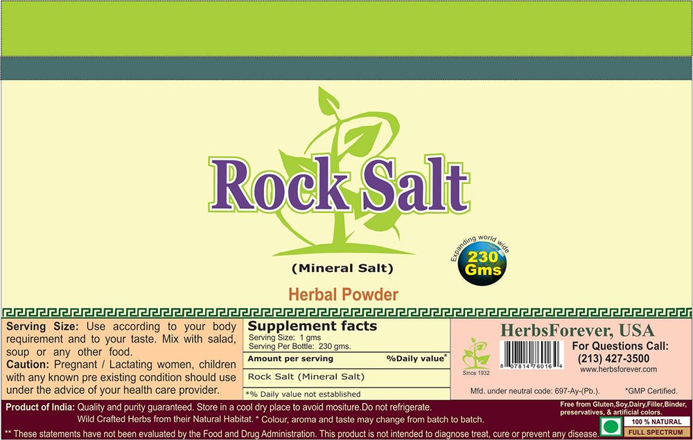Amazon.com: Roca de Sal (Dietary Sal) 230 gms: Health ...