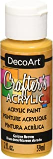 product image for DecoArt Crafter's Acrylic Paint, 2-Ounce, Golden Brown
