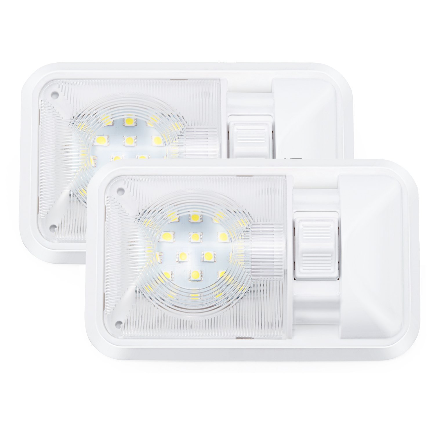 Kohree 12V Led RV Ceiling Dome Light RV Interior Lighting for Trailer Camper  with Switch,
