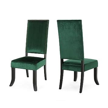 Wondrous Amazon Com Christopher Knight Home 307433 Elizabeth Velvet Machost Co Dining Chair Design Ideas Machostcouk