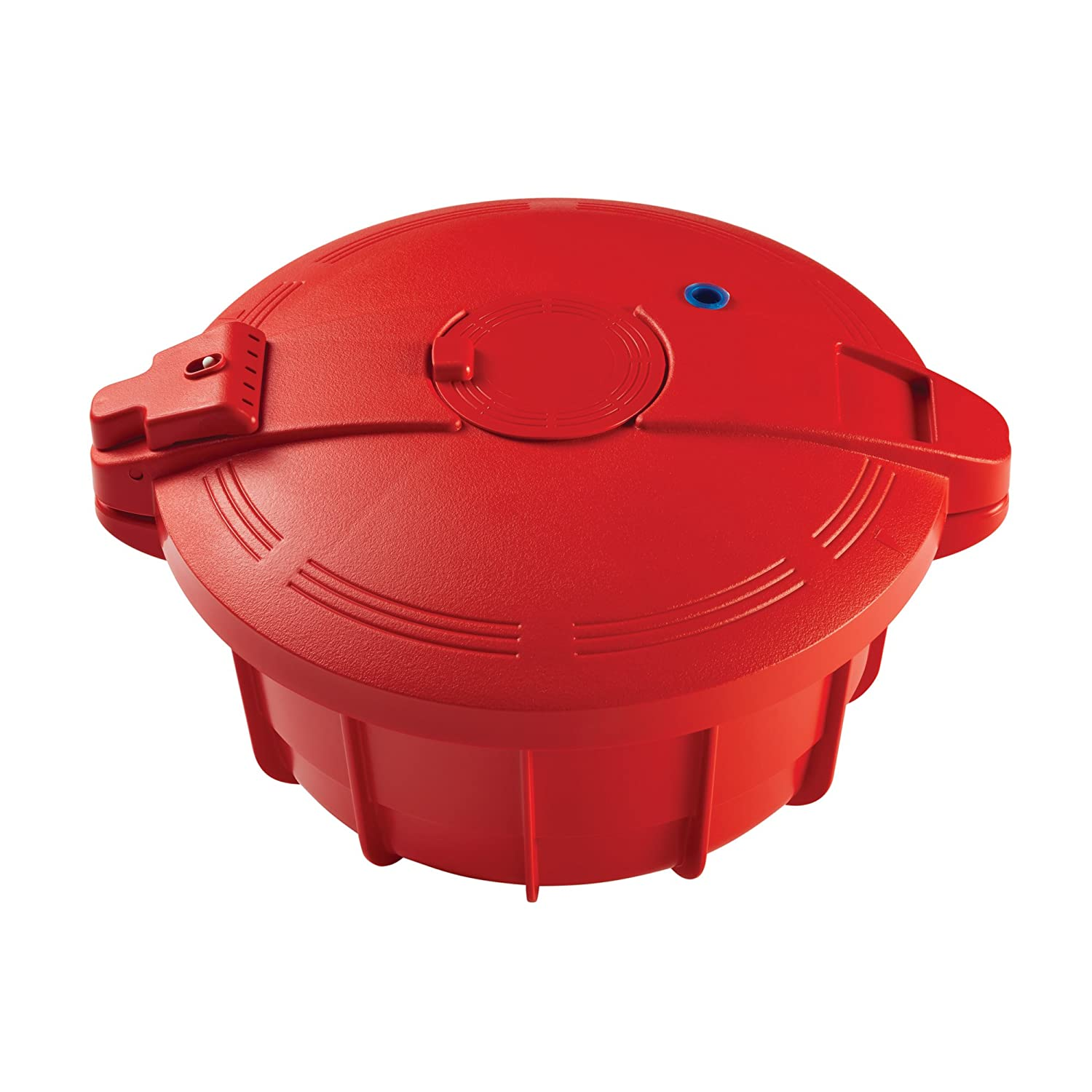 Large SilverStone Microwave Cookware BPA-Free Microwavable Pressure Cooker Chili Red