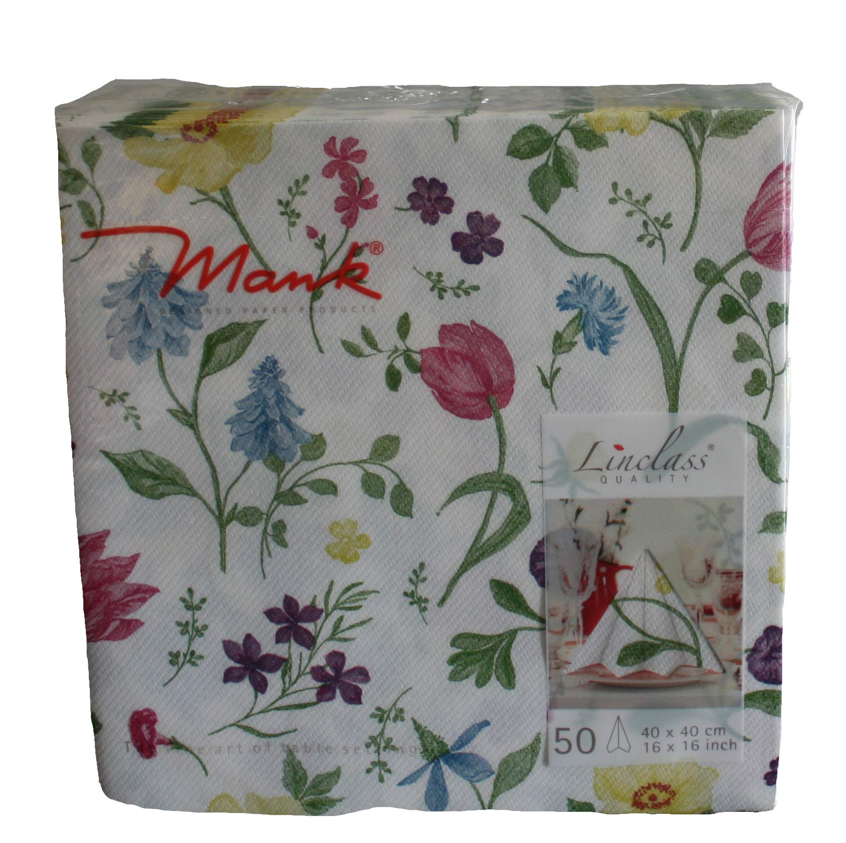 50 Large Linen Feel Paper Napkins 40 X 40 Cm Pretty Floral Buy Online In Aruba Mank Products In Aruba See Prices Reviews And Free Delivery Over 120 ƒ Desertcart