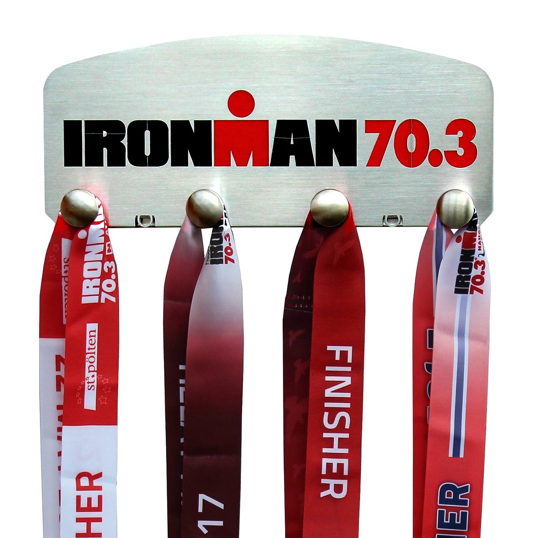 Ironman 70.3 – 4 Pegメダルハンガー表示 B073468ZDX