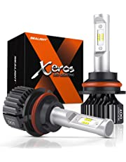 SEALIGHT 9007 LED Headlight Bulbs HB5 Hi/Lo Beam Bulbs Fanless Super Bright 6500LM 6000K Cool White All-in-One Conversion Kit Upgraded 12x CSP Chips