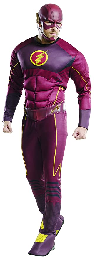 Rubieu0027s Official DC Comics The Flash Costume Deluxe Adult Costume - XL CHEST 44  sc 1 st  Amazon UK & Rubieu0027s Official DC Comics The Flash Costume Deluxe Adult Costume ...